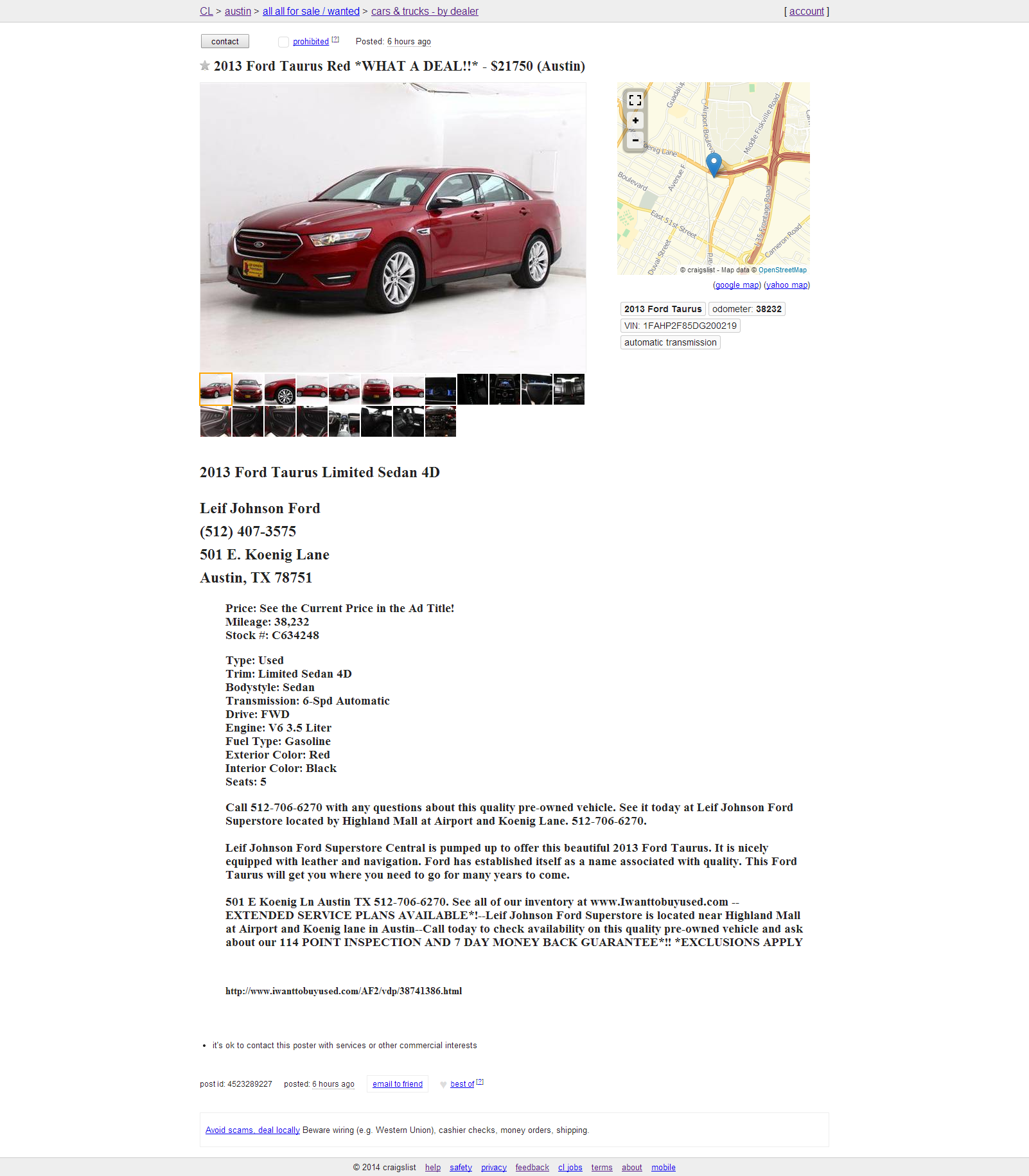 Craigslist Posting For Car Dealers Auto Dealer Craigslist Posting